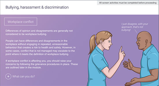 bullying and harassment for care workers